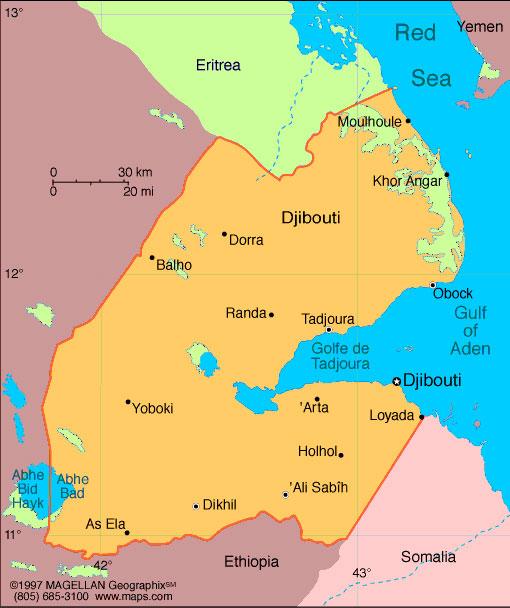 AlHakawati - Republic of djibouti map